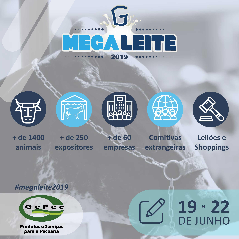 A Gepec e a BH Embriões participarão da Megaleite 2019